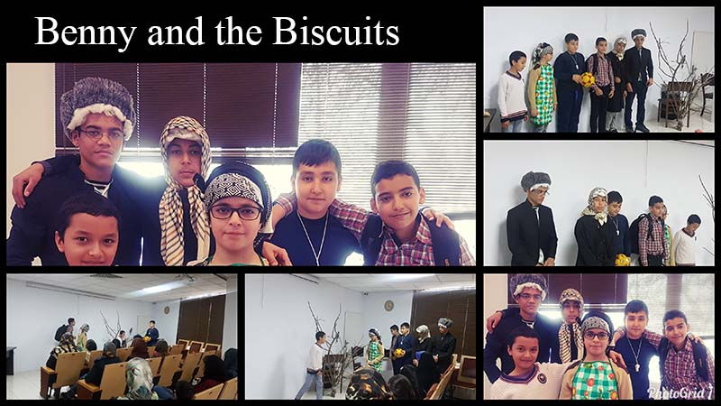 اجرای تئاتر Benny and the biscuits (کلاس Family and Friends1 خانم شمیان)
